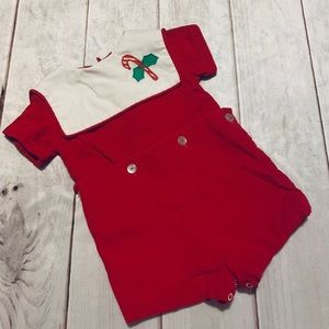 Awesome Vintage Candy Cane Romper